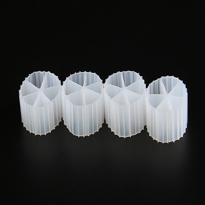 Hydrophilic MBBR Plastic K1 Filter Media 6 Holes For Water Treatment